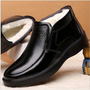 2019 novos produtos de couro sapatos de lazer de alta top homens inverno espessura venda Plush direta para as pessoas de meia-idade e idosos