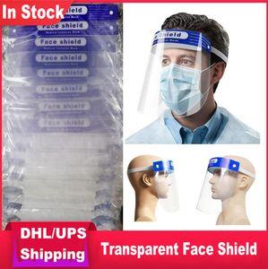 Tête monté transparent Protect Shield Visage réglable Masque facial de protection des masques de protection ultra-léger UPS DHL Envoyer