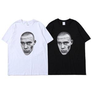 Streetwear Katı Baskı Gömlek Oversize Kısa Kollu Yaz Tshirts Hip Hop Gevşek Casual O Yaka T-shirt