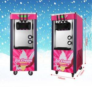 Der heiße Verkauf vertikale Softeis Automat 3 Flavors Ice Cream machen 26L / H mit zwei Jahren Garantie