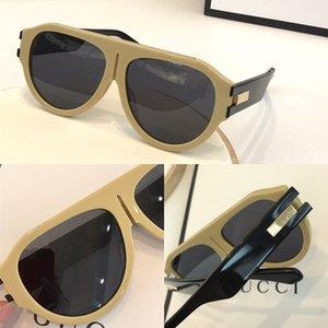 نظارات شمسية مصممة موضة جديدة 0665s مرتبطة العدسة حجم كبير الإطار البيضاوي مع المسامير الصغيرة 665 قناع النظارات الشمسية شعبية goggle أعلى جودة