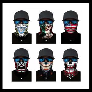 3D cuello polaina cráneo Bicyle Pesca bufanda pañuelos de cara Shiled Máscara del cuello de la mascarilla pasamontañas headwear de bicicletas