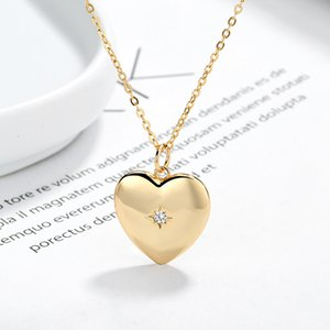 Golden Love Necklace Korean Light Luxury Trendy New Niche Cool Fashion Simple 925 Sterling Silver Necklace Female