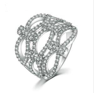 خواتم جوفاء لسيدة واضح الزركون مجوهرات فريدة من نوعها تجار الجملة anillos موهير J190714