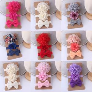 2020 bambino accessori 3pcs / set regalo dei ragazzi delle neonate delle fasce del bambino dei capelli della fascia Solid Newborn Bow Copricapo puntelli foto per bambini