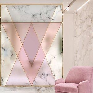 Dicor Новая мода Современная Розовый Геометрия стекла пленочные окна Наклейки Декоративные пленки Главная Декор для гостиной или ванной AB