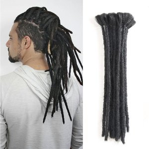 뜨거운! 남성용 Dreadlock Extensions 12 인치 20Strands / Lot 합성 덤블러 헤어 익스텐션 핸드 메이드 크로 셰 뜨개질 Dreads Men for Hair