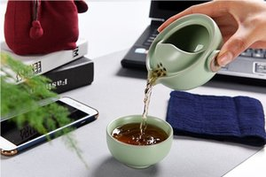 Tea cup You kiln crack cup a pot of travel tea set outdoor tea bags wrapped gifts