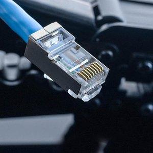 200pcs RJ45 Fişler Konnektörler için cat5 Cat6 ağ kablosu 23AWG Kristal Kafa 8 Hattı Yuvası RJ11 RJ12 Fişler Konnektörler Telefon kablo için