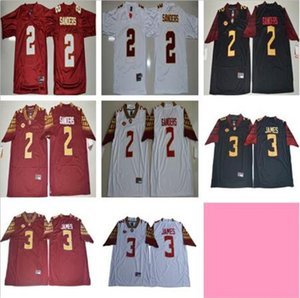 NCAA Florida State Seminoles 2 Deion Sanders Jersey College Football 3 Derwin James vermelho branco preto Deondre Francois