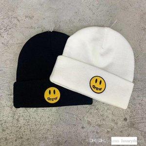 Top Quality Drew House Chapeaux Femmes Hommes 2019 d'hiver Tricoté Hiphop Justin Bieber Streetwear Drew Chapeau Beanies