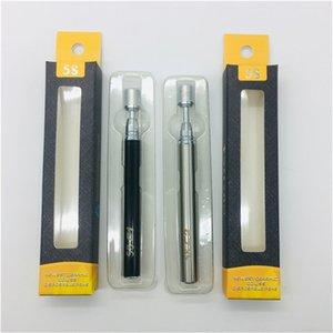 Vape descartável Pen E Cigarros 0.3ml 0.5ml 5s C1 C2 Tanques de vidro 320mAh Vape Vape Reabastecimento de Bateria Vaporizador Pen E Cigs Vaporizador