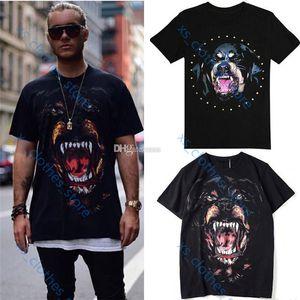 Givenchy T-shirt Xshfbcl Best selling printed Rottweiler dog head хлопок Джерси ретро футболка мужская мода дизайн уличная футболка мужчины