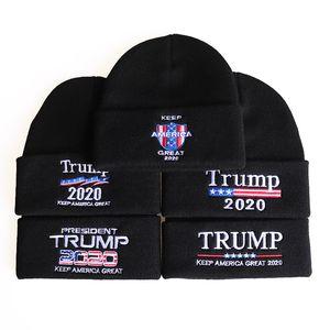 Mode Hüte Europa die Vereinigten Staaten New Trump 2020trump Wollhut amerikanische Flagge Stickerei Wollmütze Winter warme Kapuze Hip Hop Caps