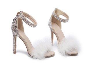 Товары Желания White Lace Свадебная обувь ворде ремешок стилет каблук острым носом свадебные свадебные сандалии 11см насосы свадебные свадебные туфли