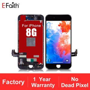 Display LCD di alta qualità No Dead Pixel EFaith LCD 8G Per display di iPhone 8 Inoltre touch screen 1-anno di garanzia + Free DHL