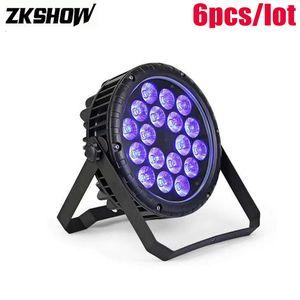 18 * 10W IP65 200W RGBW LED Flat Par Light DMX512 DJ Disco Party Music Show Decoración Etapa Equipo de iluminación Iluminacion Luz DJ