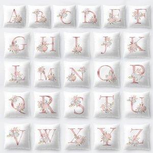 10pcs di alta qualità alla moda stile nordico semplice 26 lettere modello copertura della casa federa C19041301