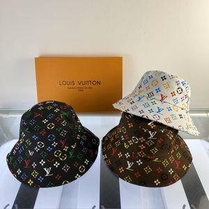 GG Four Seasons Mens protezione di modo cappelli del bordo avaro di stampa del modello traspirante casuale Equipaggiata cappelli della spiaggia con le lettere facoltative di alta qualità