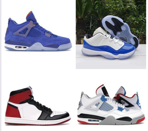 Nike Air Max Retro Jordan Shoes Niké chat noir 4 4s chaussures de basket-ball 11 11s Jordán NakeskinJordanlégende gamma hommes rétro de ciment UNC 3 3s espace concord