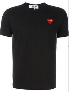 CDG PLAY commes Mensentwerfer T-Shirts OFF mit Herz-Sport-T-Shirts des garcons Weiß Pablo Streifen Shirts für den Sommer vetements