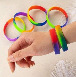 Унисекс ЛГБТ радужные браслеты гей силиконовая резина спортивный браслет лесбиянка гордость браслет Браслет LJJK2343