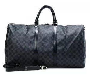 2019 hombres bolsa de lona mujeres viajan bolsas de equipaje de mano bolsa de viaje de diseño de lujo de los hombres de la PU de los bolsos de cuero de gran bandolera bolsas de 55cm
