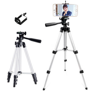 Cheapest 3110A Aluminum alloy tripod Protable Camera Cell Phone Clip Video Camcorder Selfie stick for iphone Samsung Nikon Sony Camra DV