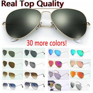 Дизайнерские солнцезащитные очки Высококачественные авиационные солнцезащитные очки для пилотов для мужчин и женщин в черном или коричневом кожаном чехле, ткани и розничных аксессуарах!