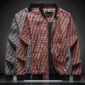 Fall   Winter 2020 New Men's Letter Print Pilot Jacket Men's Luxury Tops Men's Design High Quality Medusa Jacket