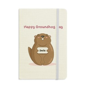 Happy Groundhog Day USA America Canada Festival Notebook Fabric Hard Cover Classic Journal Diary A5