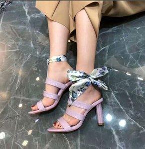 style classique en cuir véritable été des sandales à talons aiguilles Lidies arc à lacets ouvert sandales à bout Hauts talons dames pantoufles