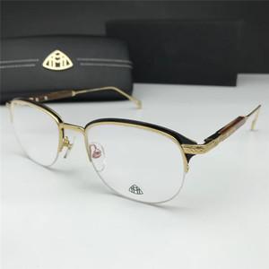 Classique Rétro lentille claire Nerd Cadres lunettes de mode Nouveau Lunettes de vue Vintage moitié Lunettes métalFrame de luxe Designer Sunglasses
