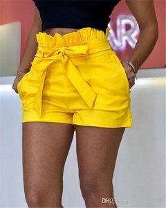 Caixilhos bolso Verão calças largas Legged Womens favoritos mediana cintura Shorts Calças Ladies Relaexed Cacual calças curtas