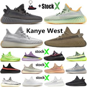 Top Fashion Kanye West Earth Yecheil Desert Sage Running Shoes Cinder men women cloud White Clay Static Reflective Zebra Trainers Sneakers