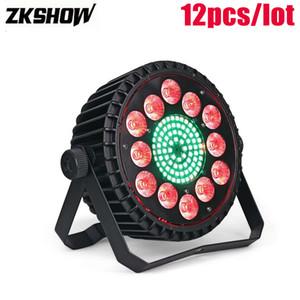 80% İndirim 200 W RGBW 4IN1 LED Düz Par Işık Işık Can Can DMX512 DJ Disko Parti Kulübü Müzik Dekorasyon Sahne DJ Aydınlatma Etkisi Controlador DJ
