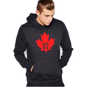 Nueva Otoño Invierno Sudaderas Hombre Clásico Canadá D2 del estilo sport del Hip Hop Fashion Fleece con capucha de los hombres / mujeres de Hoddy