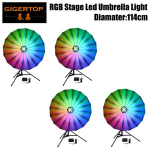 Freeshipping 4 unités 25inch Taille Contexte DMX512 Led Umbrella Lighting Sound Activated Couleur Rotating Disco Ball Party Gyrophare