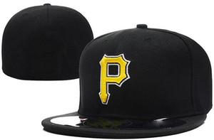 Новый горячий на поле Пираты установлены шляпа крышка высокое качество плоские поля embroiered письмо команда P логотип болельщики бейсболки полный закрытый колпачок 00