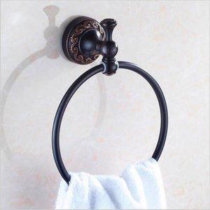 NEW 타월 링 구리 골동품 청동 / 골드 마침 욕실 액세서리 제품, 타올 홀더, 타월 바 H5200