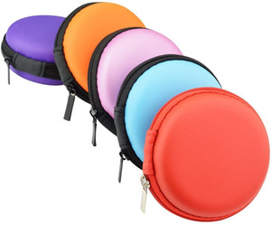 Mini in-Ear Earbud Earphone Headset Headphone Case Small Round Hard EVA Zipper Storage Carrying Pouch Bag