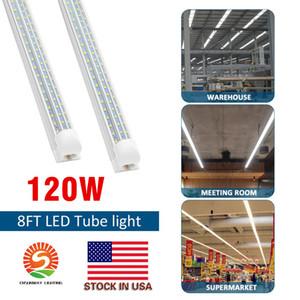 8' Forma T8 FA8 LED Tubes D 8 pés Integrado LED 8 pés Trabalho Light 60W 120W 96 '' Double Row fluorescente luminárias