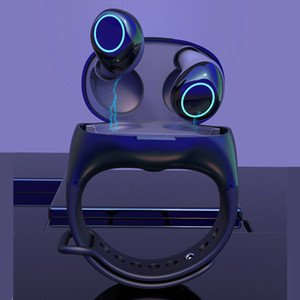 HM50 TWS Bluetooth 5.0 سماعة سوار محمول في سماعة معصم السوار في رياضة الأذن