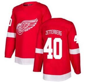 Les ailes rouges de Detroit pour hommes # 40 Zetterberg Red Home Jersey cousu, 71 Larkin 8 Abdelkader En ligne magasin en ligne à vendre chemises en jersey de hockey