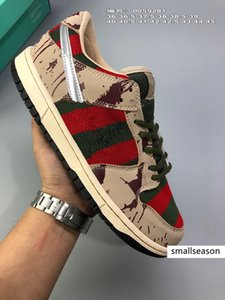 Nova SB Dunk Low Zoom PRO Freddy Krueger corrida Casual Shoes Para sapatos Homens Mulheres Dunks Skateboarding Fashion Designer Sports Sneakers 36-45