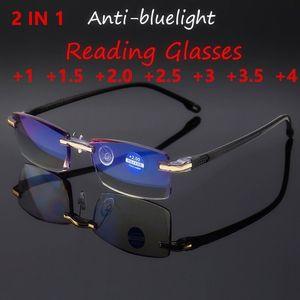 Neuer Ankunfts-Lesebrille Anti-Blau Hellblau Film Männer Presbyopic Geschäft Brillen Brillen + 1,0 + 1,5 + 2,0 + 2,5 + 3,0 + 3,5 + 4,0