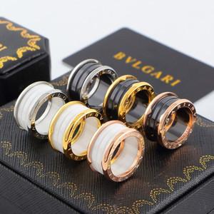 kadın ve erkek enfes jewelr için Eşleştirme halka titanyum çelik seramik gül altın eşleştirme yüzük moda gümüş 18 karat altın eşleştirme yüzük