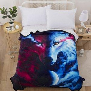 Yin Yang Loup Couverture d'impression pour le lit à la mode 3D Refroidir chaud Couvertures confortables haut de gamme douce Home Textile