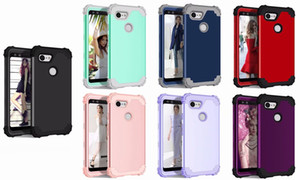 Shockproof Silicone Armor Case 3 Layer Hybrid Heavy Duty Cover For Google Pixel 3 Pixel 3 XL 3A XL 4