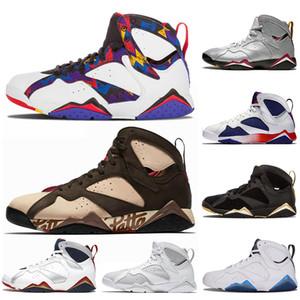 Nike Air Jordan Retro 7 7s Erkek Jumpman Basketbol Ayakkabı Patta Raptors Olimpiyat GMP Fransız Mavi Ray Allen Tinker Alternatif Hare Retro Eğitmenler Tasarımcı Sneakers